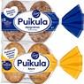 FAZER Puikula kauraleipä 6 kpl/365 g ja Fazer puikula täysjyväruisleipä 6 kpl/330 g
