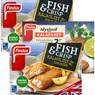 FINDUS Täysjyvä kalafileet MSC 250 g ja fish & crisp kalafileet MSC 240 g