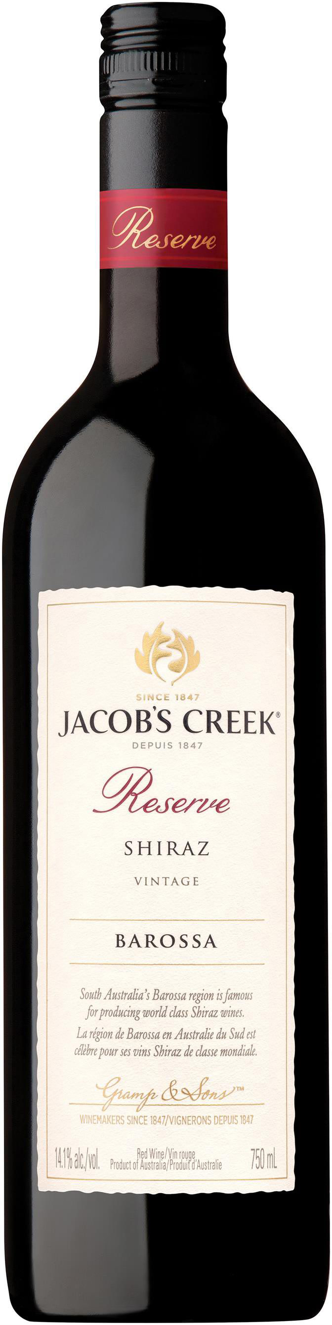 Jacob's Creek Reserve Shiraz 2013, 150cl